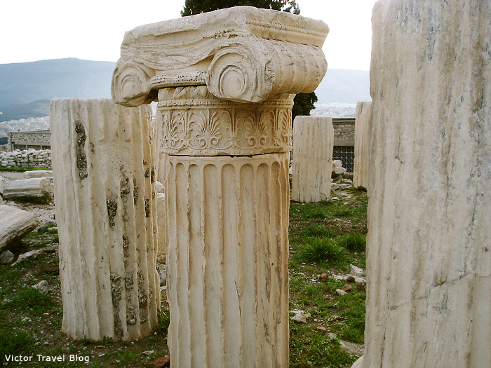 Corinthian capitals, Athens, Greece