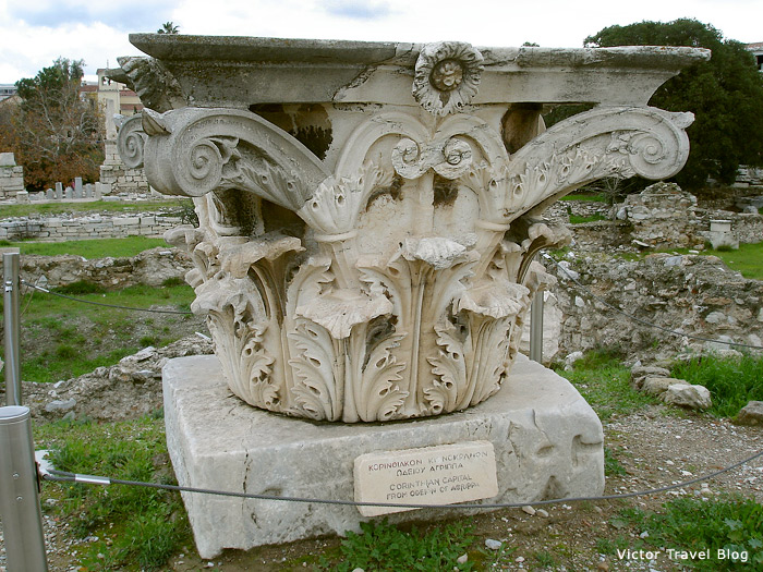 Corinthian capitals, Athens, Greece