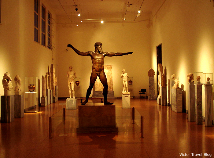 The Bronze statue of Zeus or Poseidon. Athens Archaeological Museum