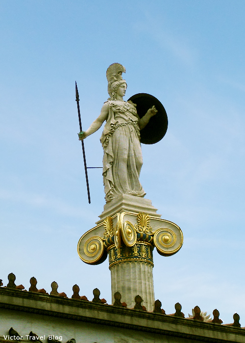 Athens, Greece. The Goddess Athena.