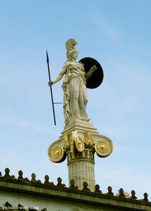 Athens, Greece. The Goddess Athena.