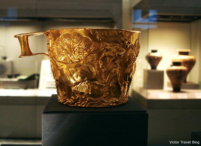 Heinrich Schliemann's gold. Mycenae. Greece.