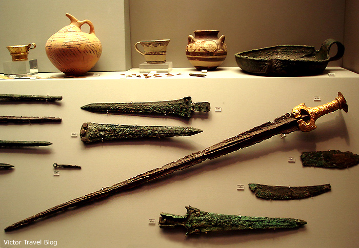 Mycenaen swords. Greece.