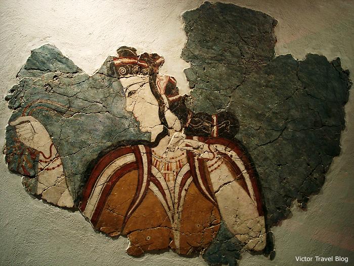 A lady of Mycenae. Greece.