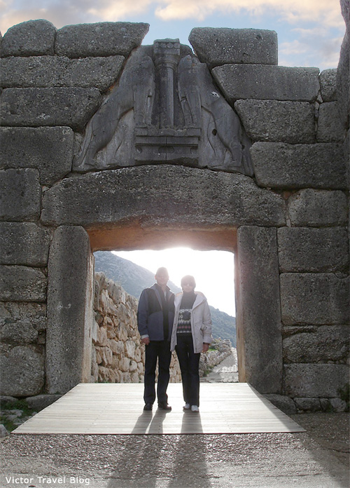 The Lion Gate of Mycenae. Greece.