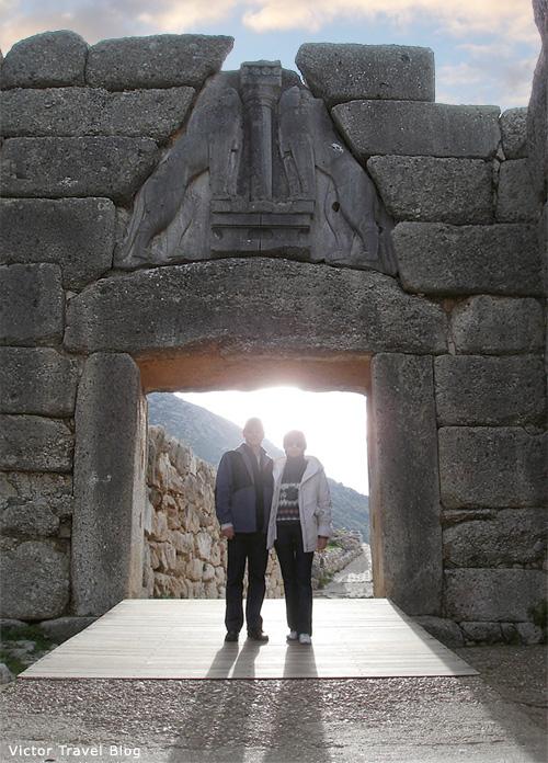 The Lion Gate of Mycenae. Greece.