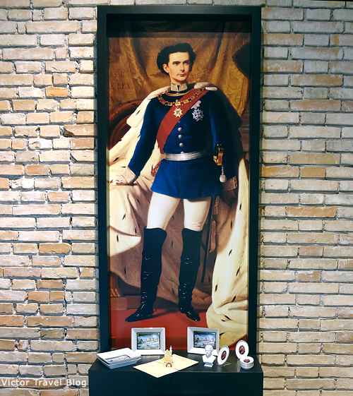 The king Ludwig II of Bavaria.
