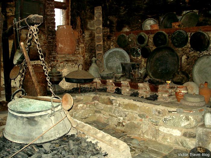 The kitchen of monastery. Meteora. Greece.