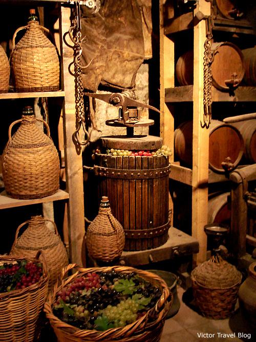 The winery of monastery. Meteora. Greece.