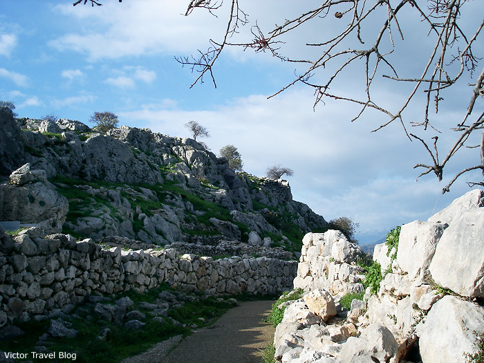 A street of Mycenae. Greece.