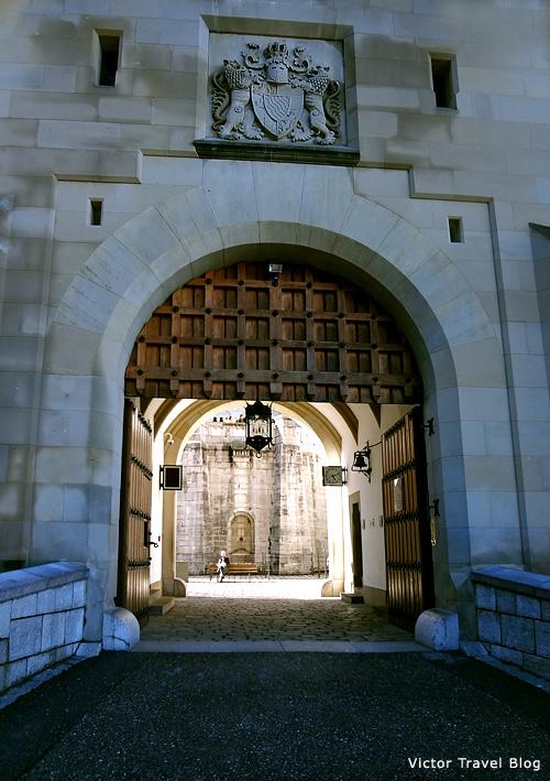 The door of Neuschwanstein Castle, Bavaria.