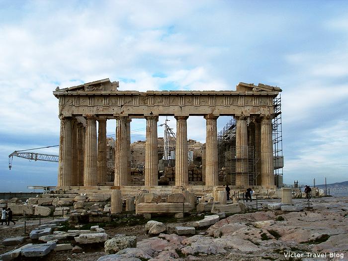 The Parthenon of Athens, Greece