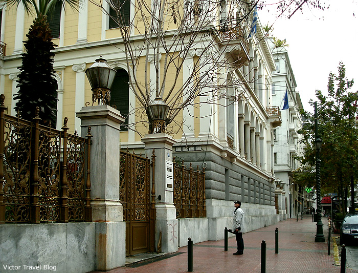 The house of the famous German archaeologist Heinrich Schliemann in Athens. Greece