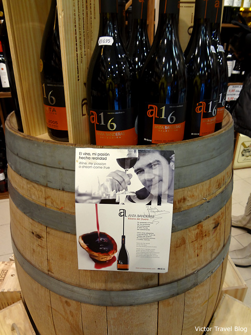 A wine of Antonio Banderas. Madrid. Spain.