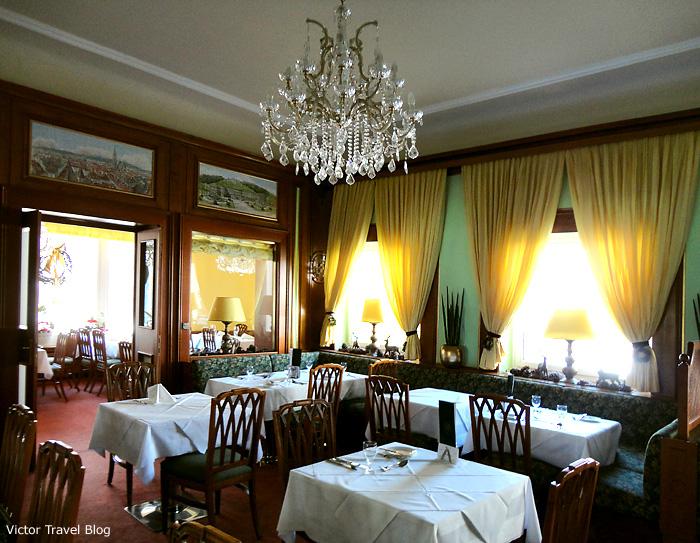 The restaurant of Hotel Astoria. Bad Hofgastein. Austria.