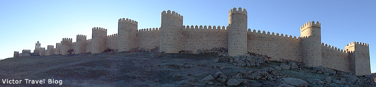 The ancient wall of Avila. Spain.