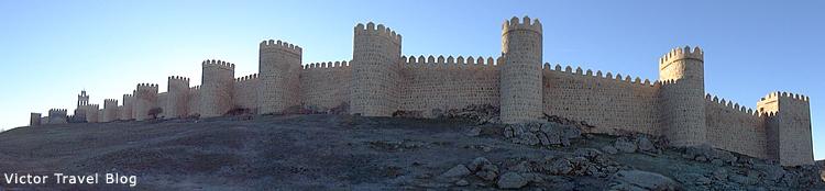 The ancient wall of Avila. Spain.