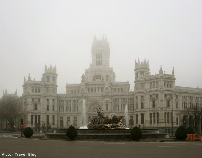 Cibeles Plaza. Madrid. Spain.