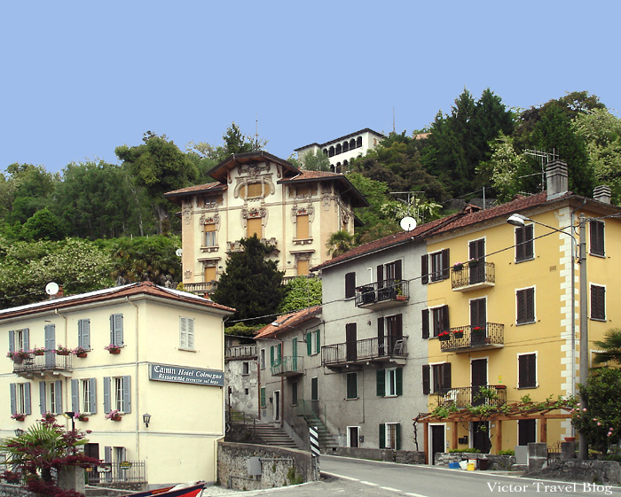 The town of Colmegna on Lake Maggiore, Italy.