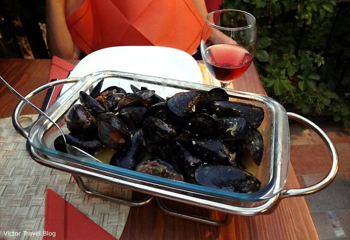 Mussels. Trogir. Croatia.