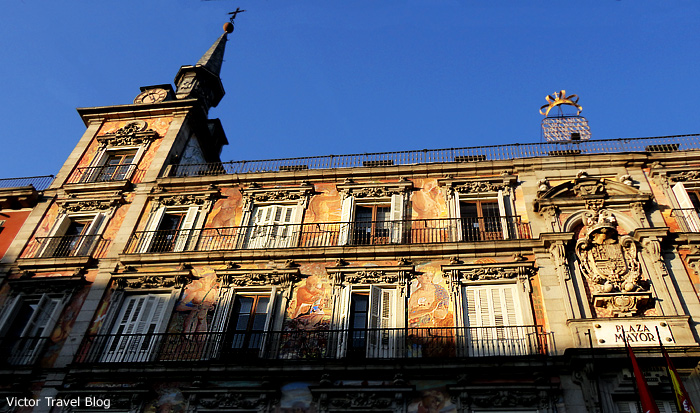 The famous building of Plaza Mayor. Madrid. Spain.