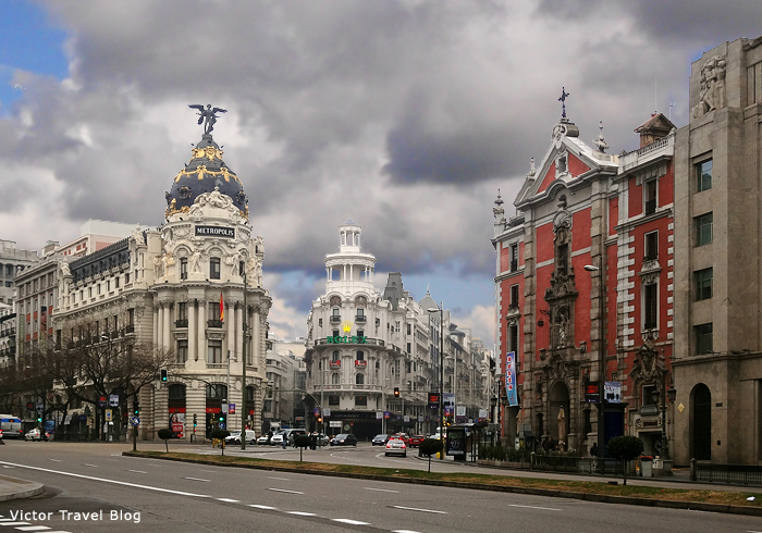 Streets of Madrid. Spain.
