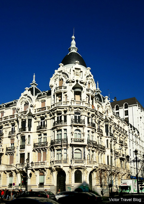 Architecture of Madrid. Spain.