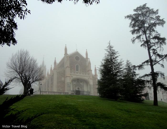 San Jerónimo el Real in fog. Madrid. Spain.