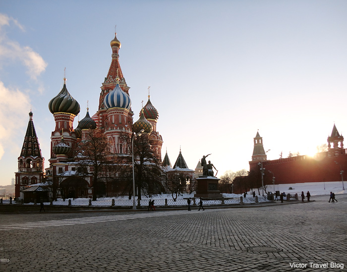 St. Basil's Cathedral, Red Square, Moscow, Russia.