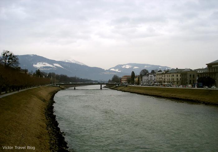 Salzach River. Salzburg, Austria.