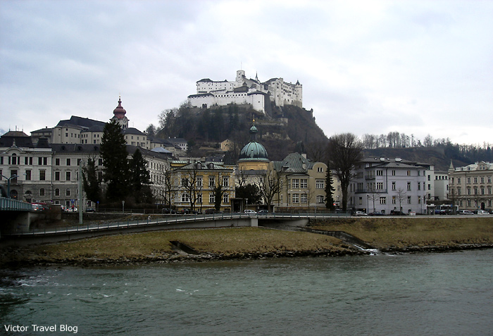 The old town of Salzburg, Austria.