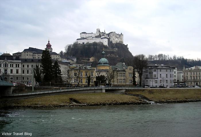 The old town of Salzburg, Austria.