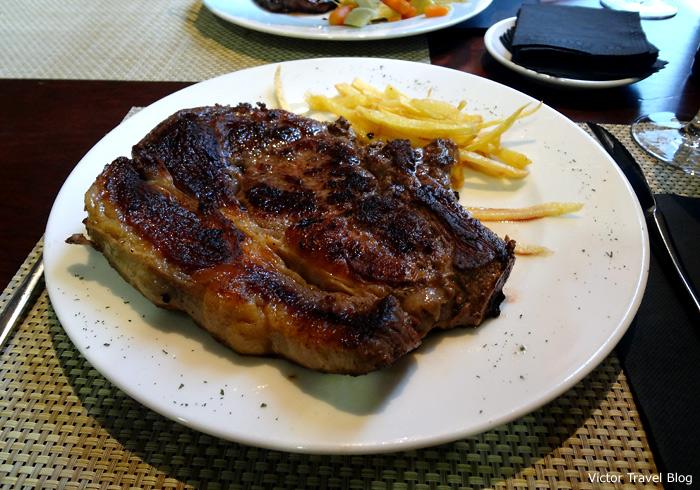 A steak in Madrid, Spain.