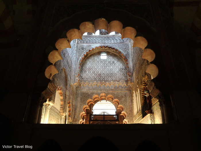 An interior of the Mezquita de Cordoba, Spain.
