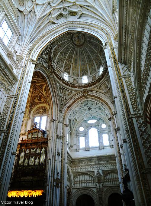 The Christian part of the Mezquita de Cordoba, Spain.