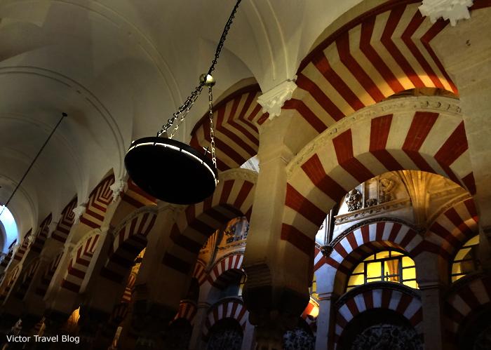 An interior of Mezquita de Cordoba, Spain.