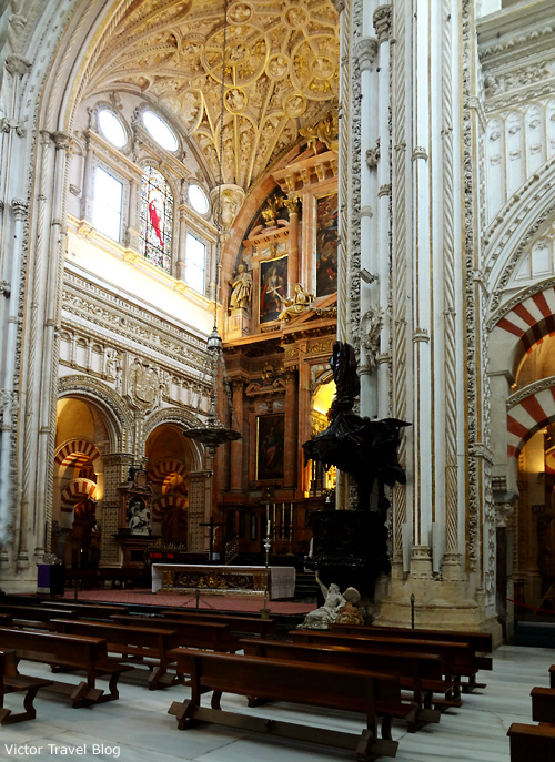 The Christian part of the Mezquita de Cordoba, Spain.