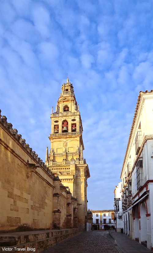 The bell tower of the Mezquita de Cordoba, Spain.