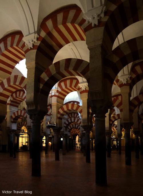Сolumns of the Mezquita de Cordoba, Spain.