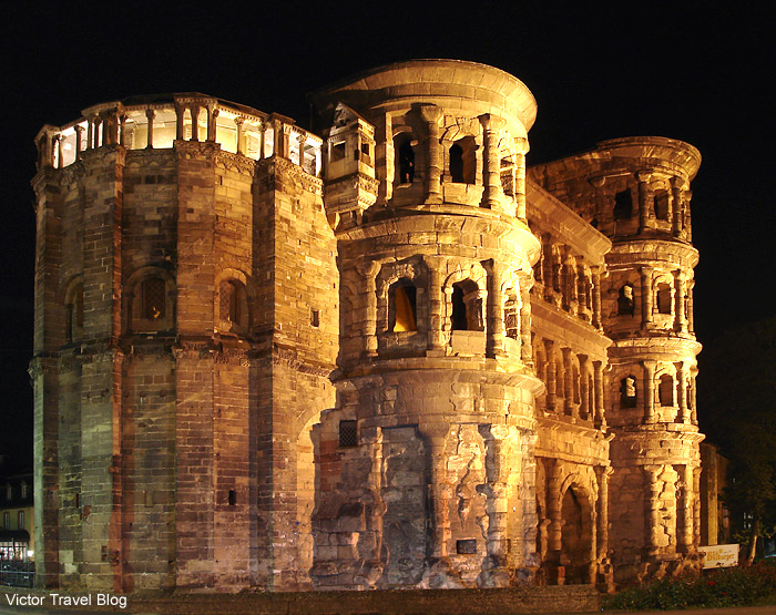 Porta Nigra at night. Trier. Germany