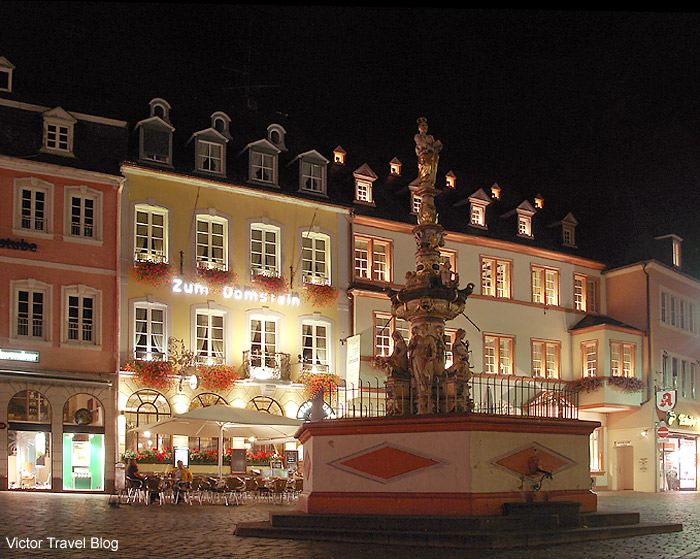 One of the squares of Trier. Germany.