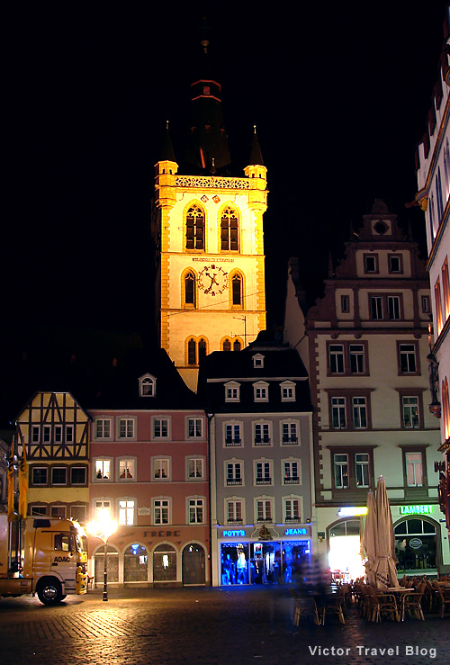 Trier at night. Germany.