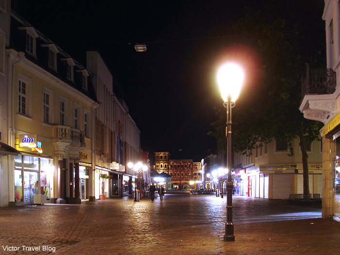 Night in Trier. Germany.