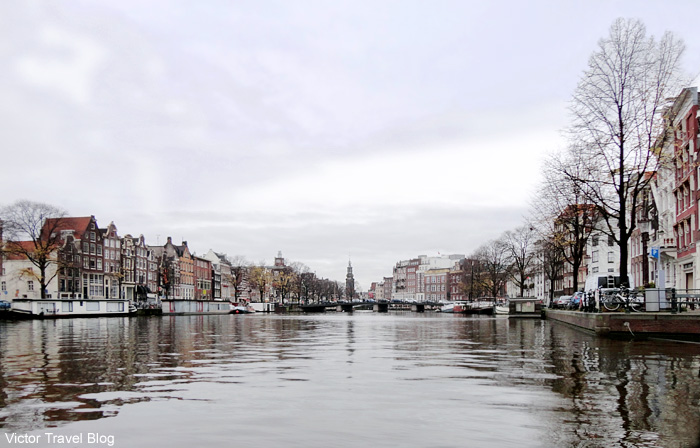 The Amstel river, Amsterdam.