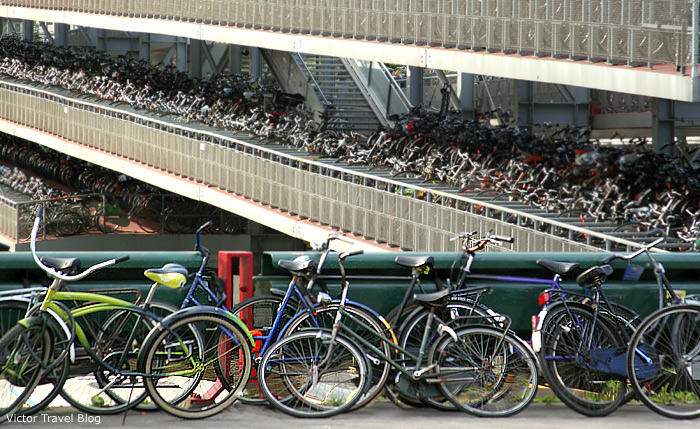 Bicycles of Amsterdam, The Netherlands.