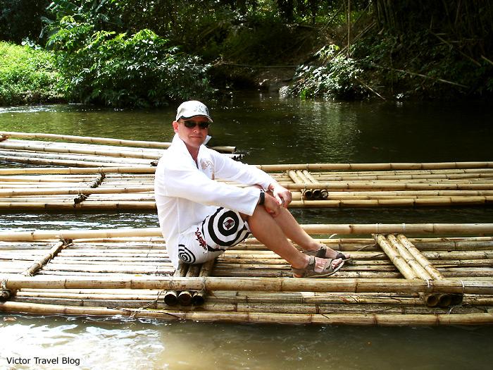 Bamboo rafting. Phuket, Thailand.