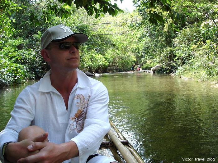 Victor Tribunsky. Bamboo rafting. Phuket, Thailand.