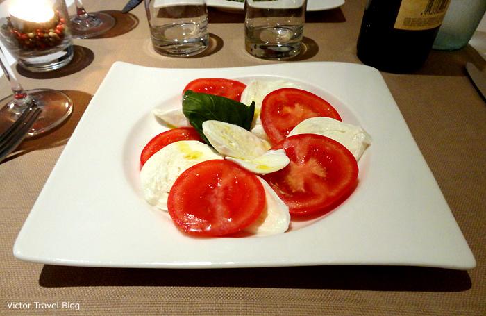 Caprese salad, Roma, Italy.