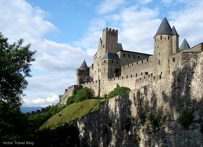 Сite de Сarcassonne. Languedoc, France.