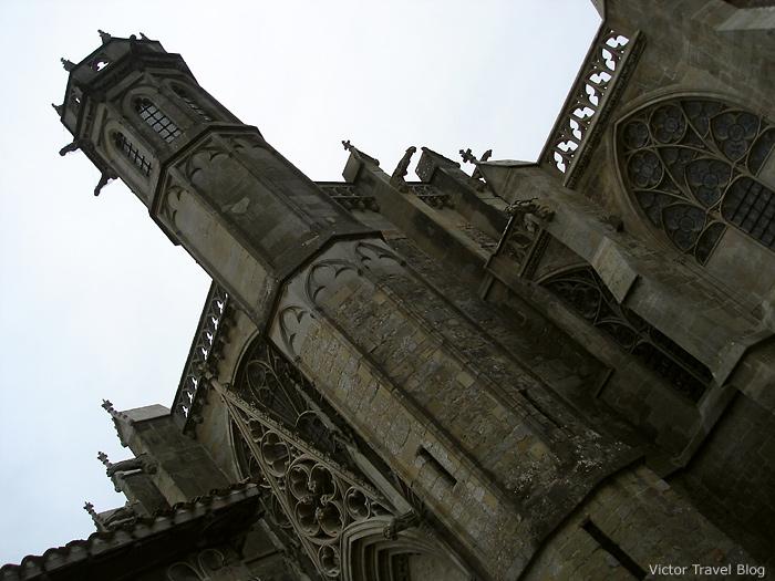 Basilica of St. Nazaire and St. Celse. La Сite de Сarcassonne, Languedoc, France.